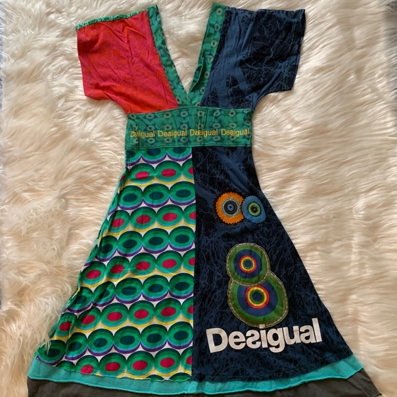 Desigual Dresses & Skirts - Desigual Multicolor Kimono Style Dress